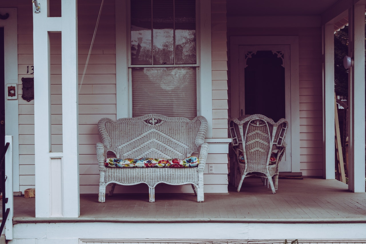 bild på veranda